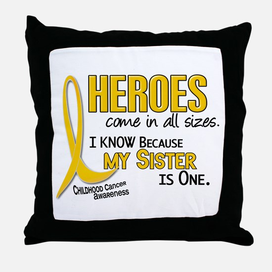 Heroes All Sizes 1 (Sister) Throw Pillow