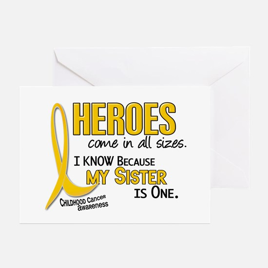 Heroes All Sizes 1 (Sister) Greeting Cards (Pk of