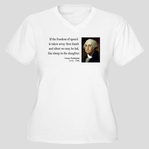 George Washington 3 Women's Plus Size V-Neck T-Shi