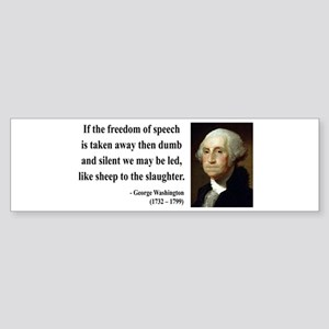 George Washington 3 Bumper Sticker