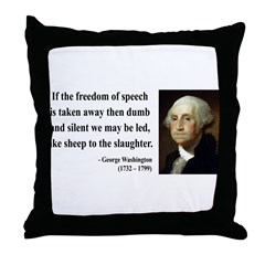 George Washington 3 Throw Pillow