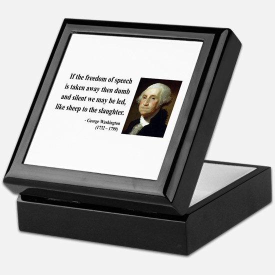 George Washington 3 Keepsake Box