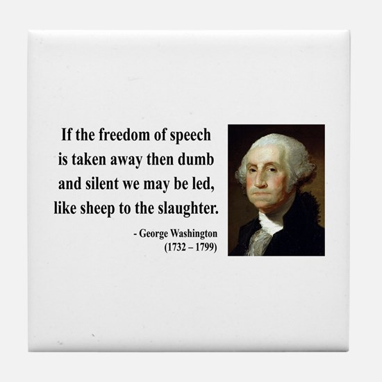 George Washington 3 Tile Coaster