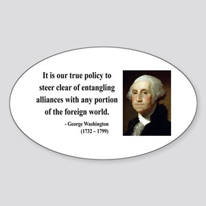 George Washington 6 Oval Sticker