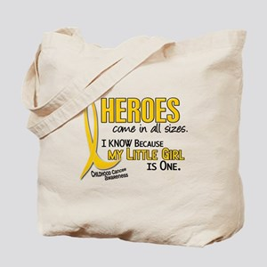 Heroes All Sizes 1 (Little Girl) Tote Bag
