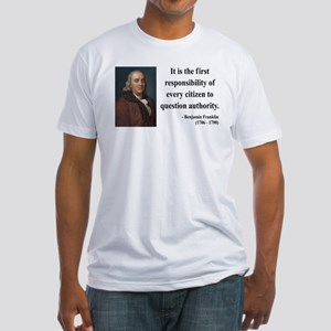 Benjamin Franklin 17 Fitted T-Shirt