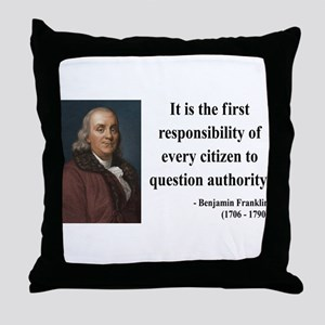 Benjamin Franklin 17 Throw Pillow