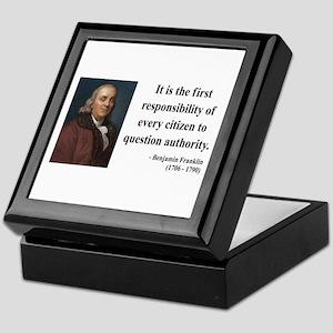 Benjamin Franklin 17 Keepsake Box