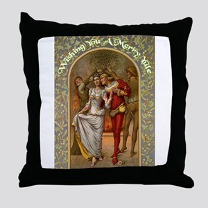 Dancing Minstrel Couple Throw Pillow