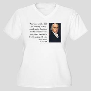 James Madison 6 Women's Plus Size V-Neck T-Shirt