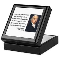 James Madison 6 Keepsake Box
