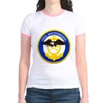 USS MACDONOUGH Jr. Ringer T-Shirt