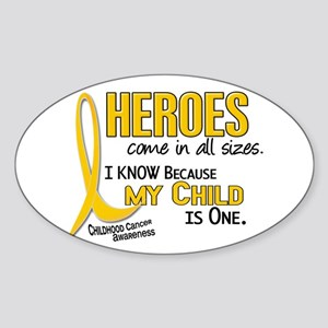 Heroes All Sizes 1 (Child) Oval Sticker