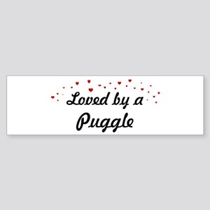 Loved By Puggle Bumper Sticker
