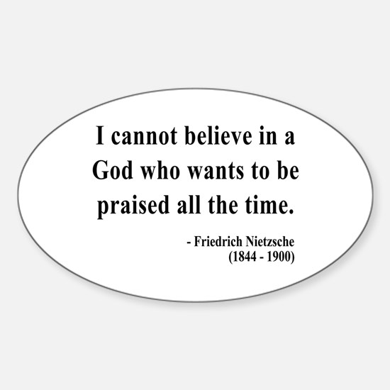 Nietzsche 5 Oval Decal