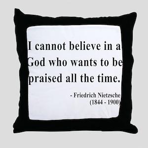 Nietzsche 5 Throw Pillow