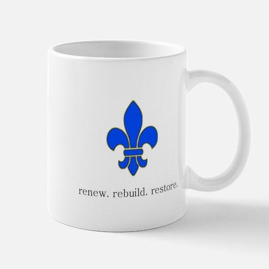 renew rebuild Mugs