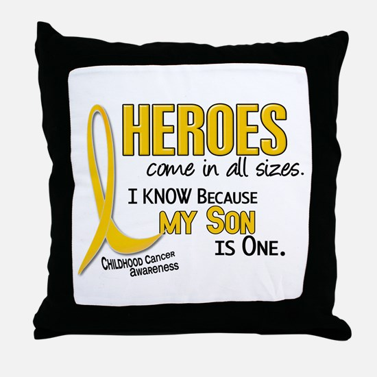 Heroes All Sizes 1 (Son) Throw Pillow