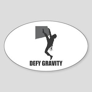 Defy Gravity Oval Sticker