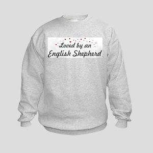 Loved By English Shepherd Kids Sweatshirt