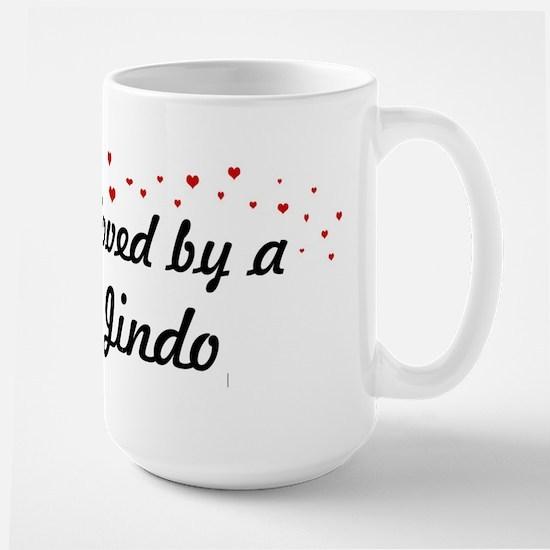 Loved By Jindo Large Mug