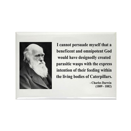 Charles Darwin 3 Rectangle Magnet