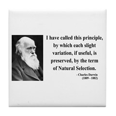 Charles Darwin 9 Tile Coaster