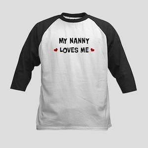 Nanny loves me Kids Baseball Jersey
