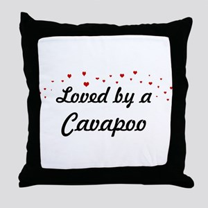 Loved By Cavapoo Throw Pillow