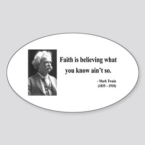 Mark Twain 19 Oval Sticker