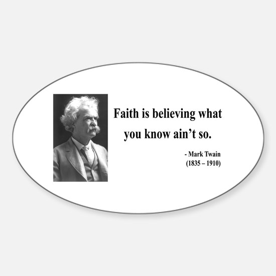Mark Twain 19 Oval Decal