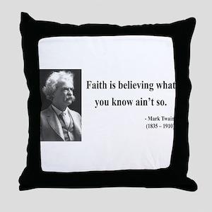 Mark Twain 19 Throw Pillow