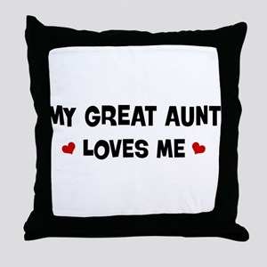 Great Aunt loves me Throw Pillow