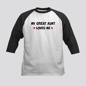 Great Aunt loves me Kids Baseball Jersey