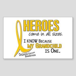 Heroes All Sizes 1 (Grandchild) Sticker (Rectangle
