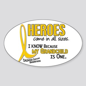 Heroes All Sizes 1 (Grandchild) Oval Sticker