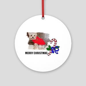 yorky dog Ornament (Round)