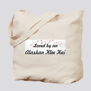 Loved By Alaskan Klee Kai Tote Bag