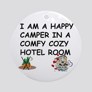 I AM A HAPPY CAMPER Ornament (Round)
