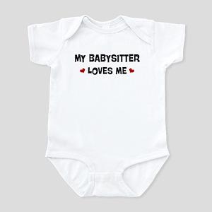Babysitter loves me Infant Bodysuit
