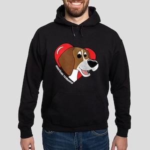 Cartoon Love American Foxhound Hoodie (dark)