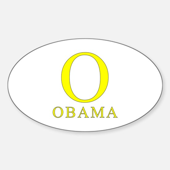 Yellow Obama O Oval Decal