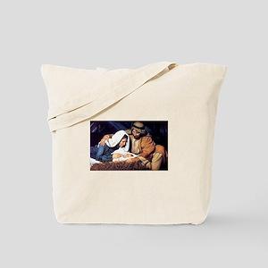 Christmas Jesus Birth Stable Tote Bag