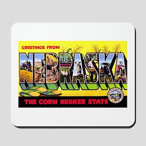 Nebraska Greetings Mousepad