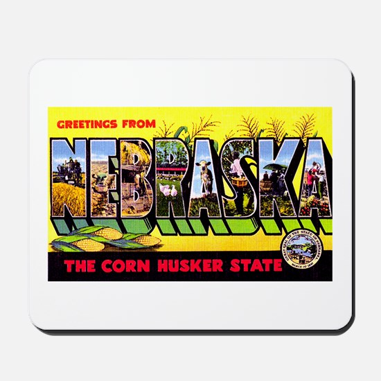 Nebraska Greetings Mousepad