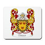 Tinoco Family Crest Mousepad