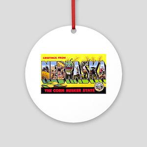Nebraska Greetings Ornament (Round)