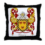 Tinoco Family Crest Throw Pillow