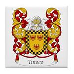 Tinoco Family Crest Tile Coaster