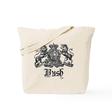 Bush Vintage Last Name Crest Tote Bag